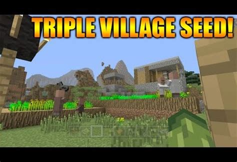 minecraft ps ps tu seed triple village extreme