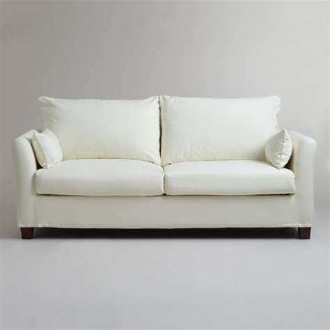 World Market Luxe Sofa Slipcover by Ivory Luxe Sofa Slipcover World Market