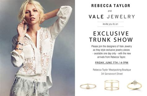 Rebecca Taylor Clothing Vale Jewelry New York Trunk Show