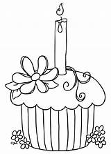 Cupcake Coloring Pages Printable Birthday Cupcakes Cake Cup Colouring Colour Painting Blank sketch template