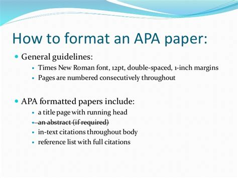 What Is The Best Format Font And Paper For A Resume by Apa Style