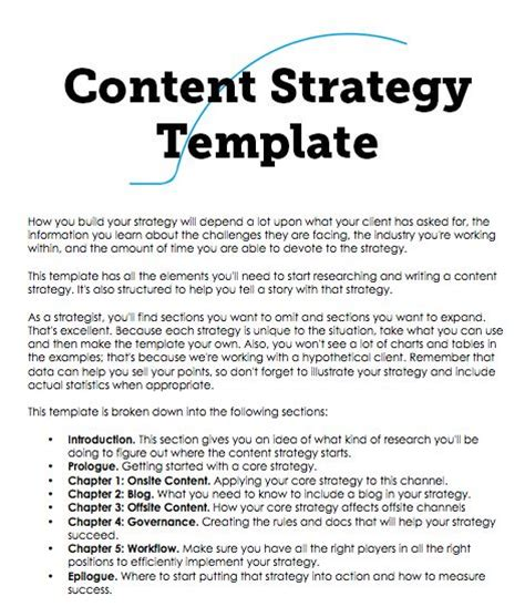 content strategy template a content strategy template you can build on fresh ebusiness