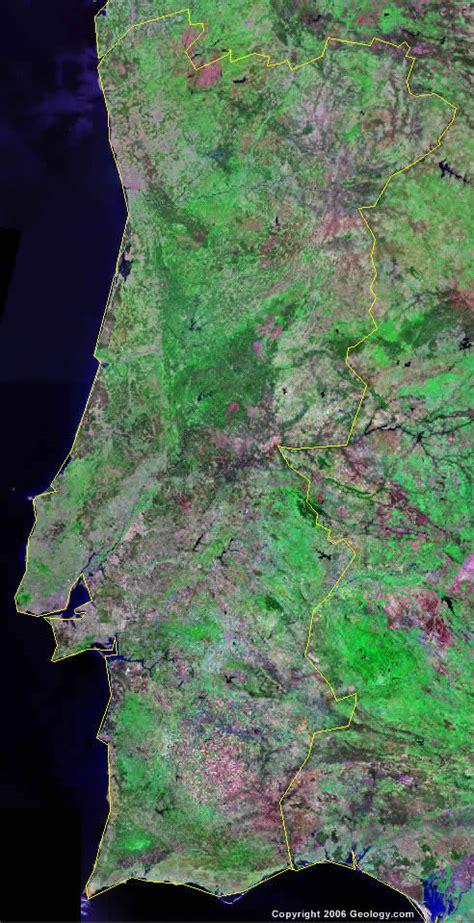 portugal map  satellite image