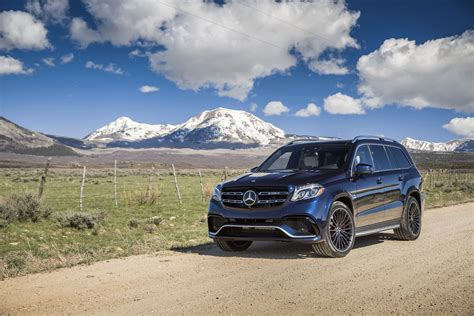 Mercedes Gls Class 4k Wallpapers by Black Mercedes Gl Class On The Background Of The