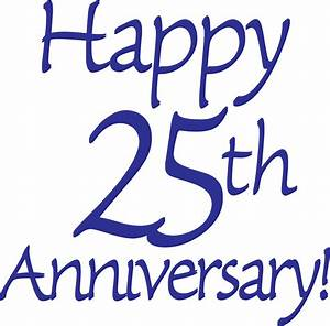 25th anniversary clip art free clipart best With happy 25th wedding anniversary