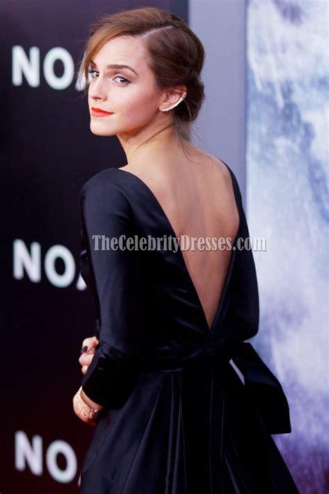 emma watson black backless formal dress  york premiere
