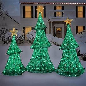 NEW OUTDOOR CHRISTMAS PRE LIT LED 3 4 5 FT LIGHTED TREES