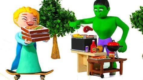 Superheroes Prefer Pizza Or Barbecue Superhero Play Doh