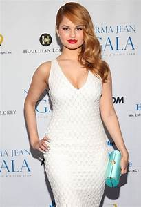 Debby Ryan Cleavage In A White Dress At The Norma Jean