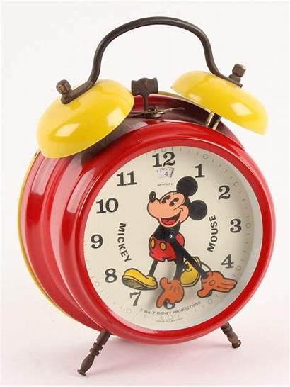Mickey Mouse Clock Alarm Pie Retro Eyed