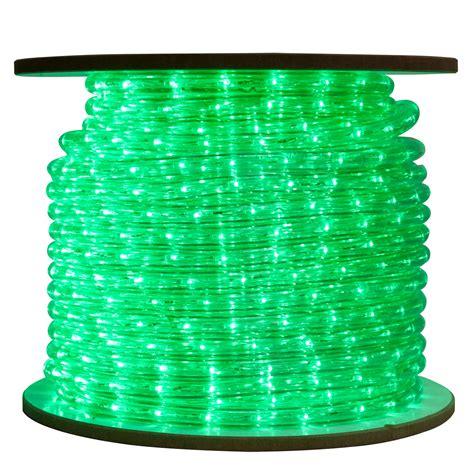 green bulk led rope light reel 150