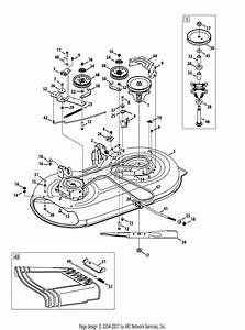 Mtd 13an785s001  2013  Parts Diagram For Mower Deck 42