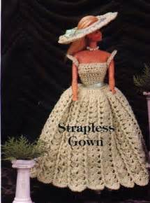 strapless gown  barbie  crochet pattern crochet kingdom