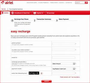 Online Prepaid Recharge Prepaid Mobile Recharge For Airtel