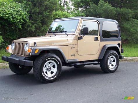 desert jeep wrangler 2000 desert sand pearl jeep wrangler sport 4x4 49799222