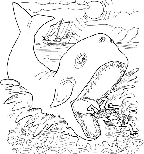 jonah and the whale coloring page free printable jonah and the whale coloring pages for