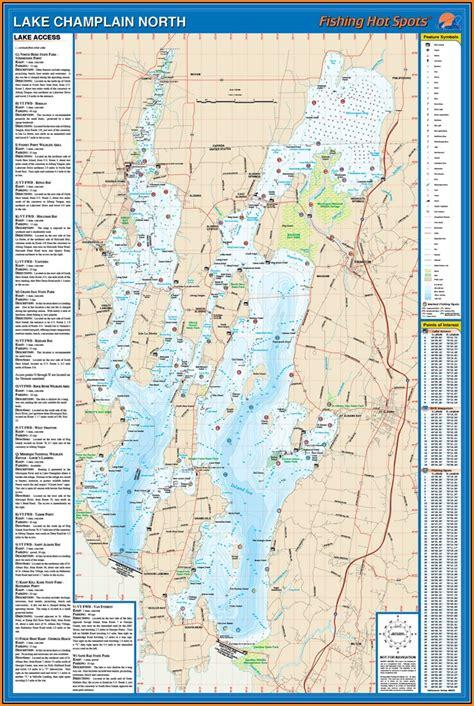 lake champlain fishing map map resume examples pvwjkga