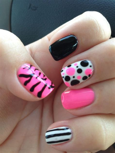 awesome black white nail art ideas