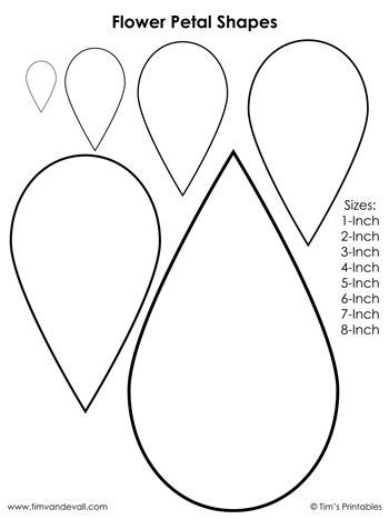 flower petal templates shapes  tims printables