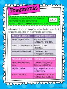 Sentence and Fragment Anchor Chart