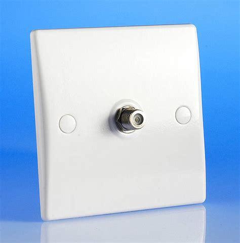 single satellite socket white