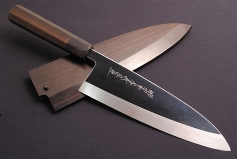 knives kitchen chef knife japanese deba japan saya most handle cutlery which fillet honyaki ebony finished mirror