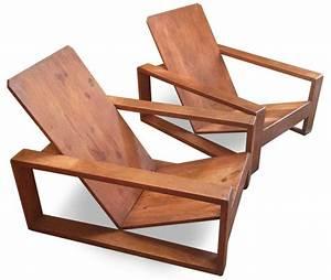Fauteuil En Bois : paire de fauteuil en bois 1940 ~ Teatrodelosmanantiales.com Idées de Décoration