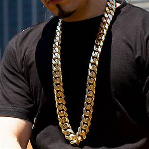 1.5 Kilo Miami Cuban Link Chain 14K Solid Gold Necklace ...