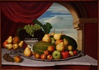 File:Still Life, Fruit in a Classical Setting, by John ...