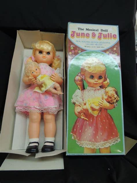 Vintage Musical Doll JUNE & JULIE Sears Rocking Motion