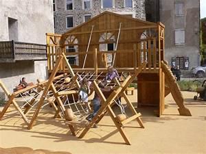 Jeux En Bois Extérieur : aire de jeux p dagogique sur th me ver soie en bois d ~ Premium-room.com Idées de Décoration