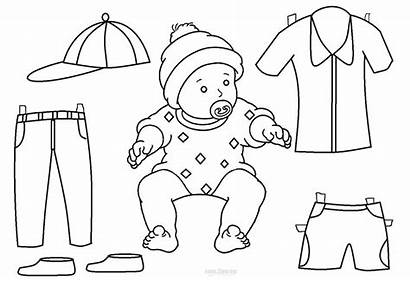 Paper Doll Coloring Printable Pages Dolls Templates