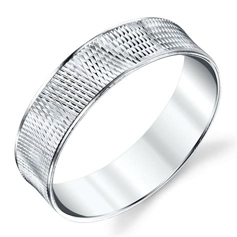 sterling silver mens wedding bands rings size