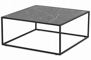Table Plateau Marbre : table basse plateau effet marbre noir fortune table ~ Teatrodelosmanantiales.com Idées de Décoration