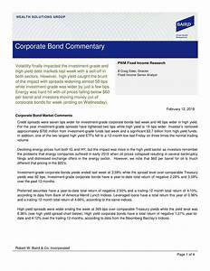 Corporate Bond Commentary - February 12, 2018 | Seeking Alpha
