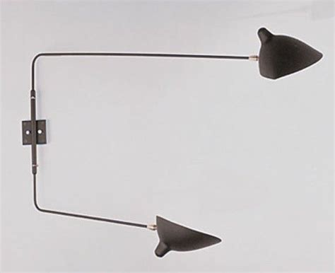 rotating 2 arm wall l sconce by serge mouille