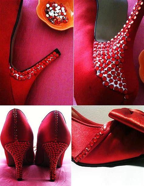 diy tutorial shoe makeovers diy bedazzle your wedding