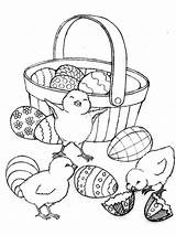 Easter Basket Coloring Pages Printable Holiday sketch template