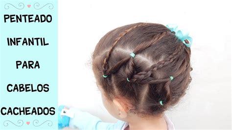 Penteados Infantil Para Escola Cabelos Cacheados