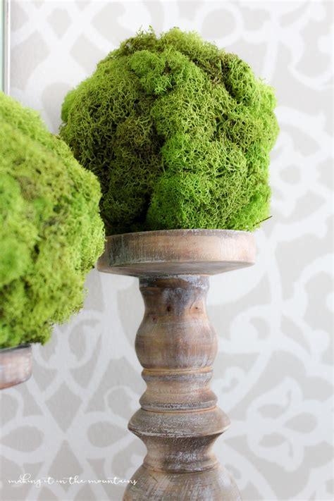 diy moss topiary balls making