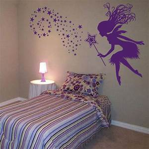 fairy with a magical wand stars wall decals With fairy wall decals