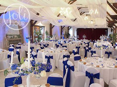decoration chaise mariage location noeuds chaise satin bleu roi electrique