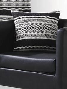 Coussin Ethnique Noir Et Blanc : coussin noir et blanc jacquard ethnique art of life oreillers coussins poufs pinterest ~ Teatrodelosmanantiales.com Idées de Décoration