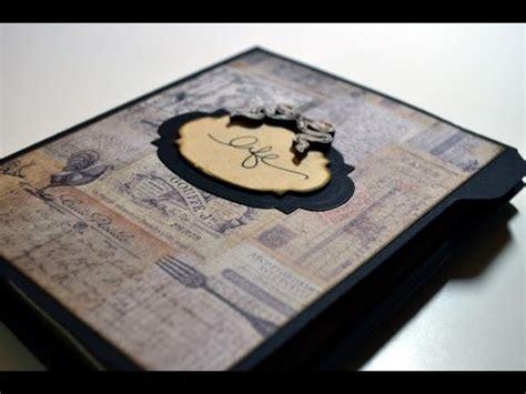 mini album selber basteln scrapbooking folio vintage mini album basteln mit papier
