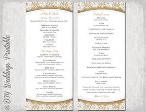 printable wedding programs free rustic wedding program template burlap lace diy