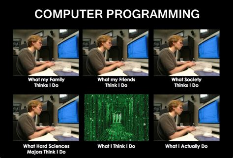 Computer Programmer Meme - what my friends think i do computer programming what my friends think i do what i really