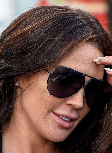 danielle lloyd pictured heading to her local hairdressers