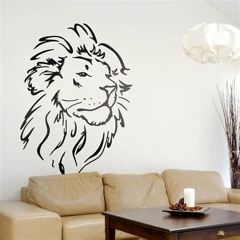 drawing wall designs lion head wall sticker by oakdene designs notonthehighstreet com