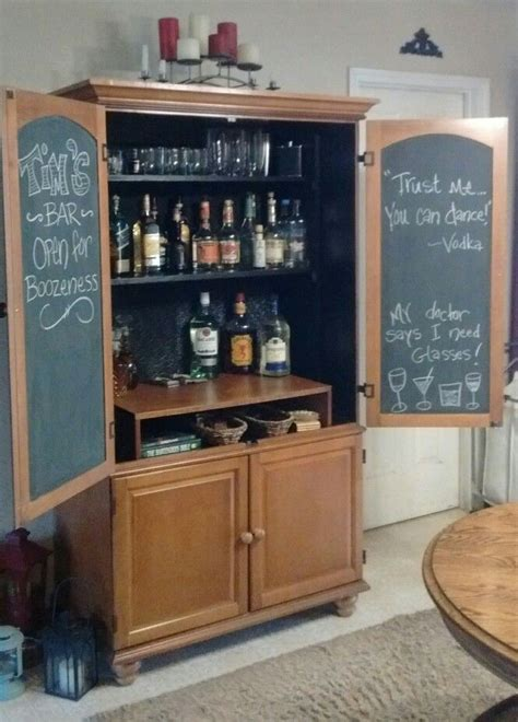 An old armoire turned into a bar! Did this project as a