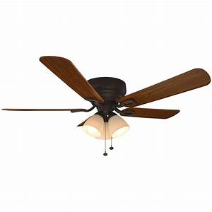 Hampton bay blair in led indoor oil rubbed bronze ceiling fan with light kit the